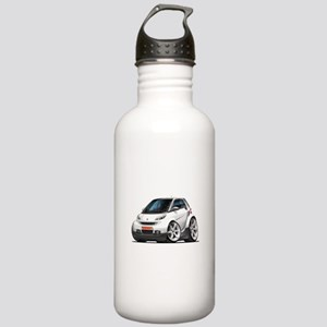 Smart White Car Stainless Water Bottle 1.0L